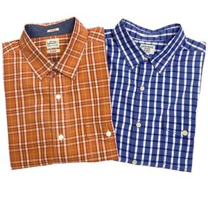 (2)Lucky Brand Plaid L/S Button Down Shirts.